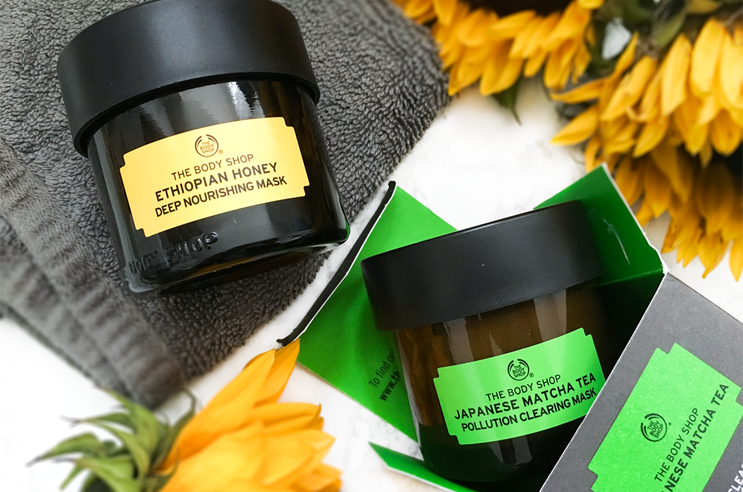 The Body Shop Honey and Matcha Face mask