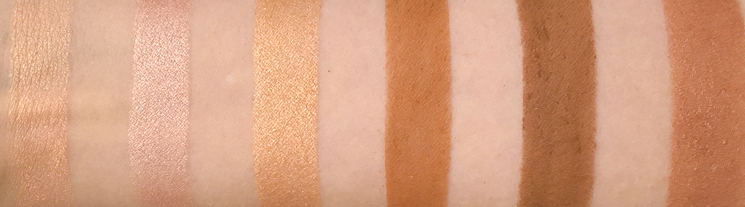 Pixi Maryam Maquillage Glow and bronze palette swatches