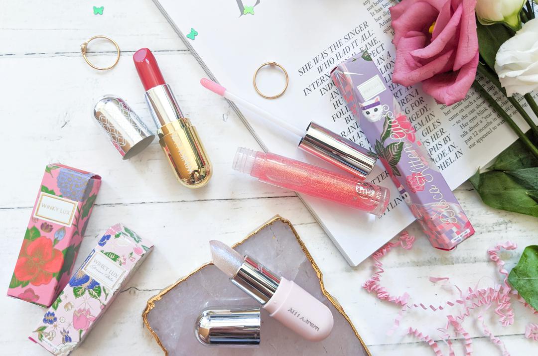 Winky Lux Glimmer Balm, Velour lipstick, Disco Kitten Gloss